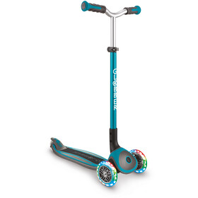 Globber Master Lights Scooter with LED Wheels Kids, turkusowy